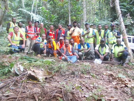 Group photo of participants in the first RIL training to be held in PNG